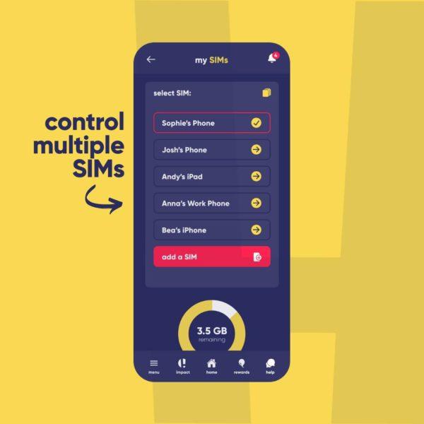 Honest Mobile app - control multiple SIMs