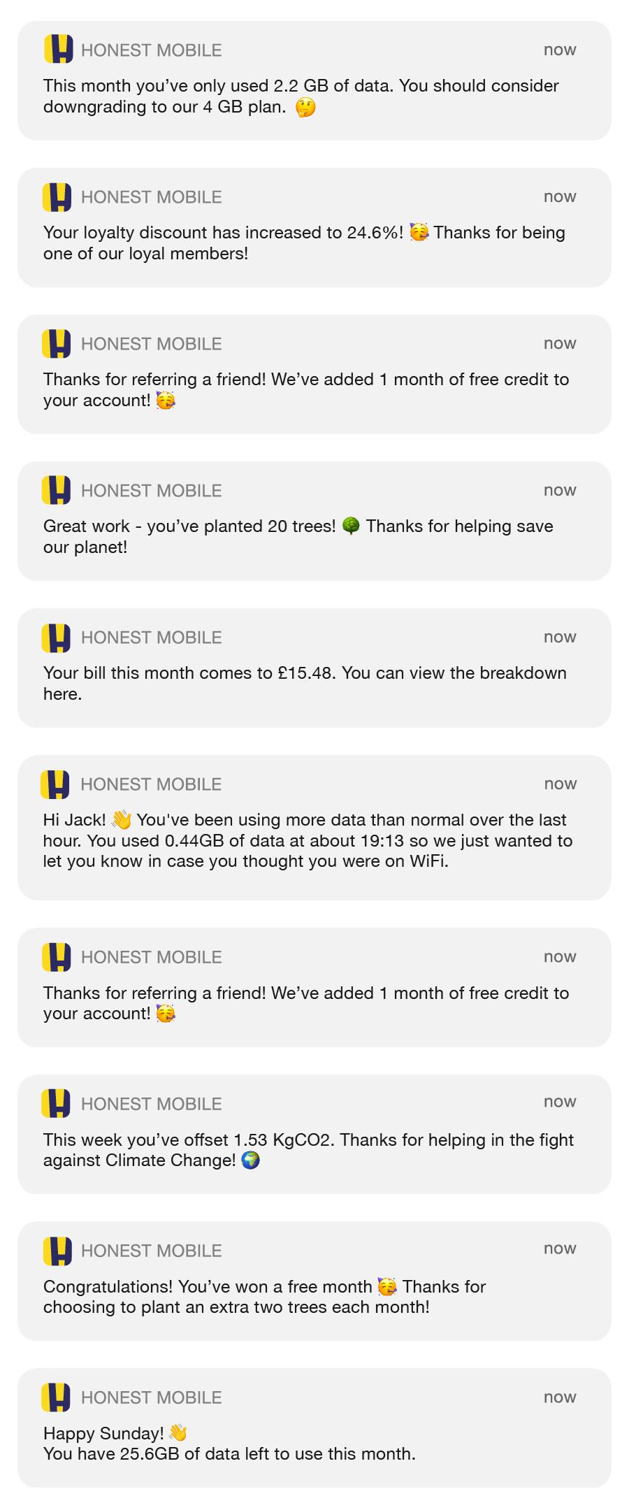 Honest Mobile Smart Notifications