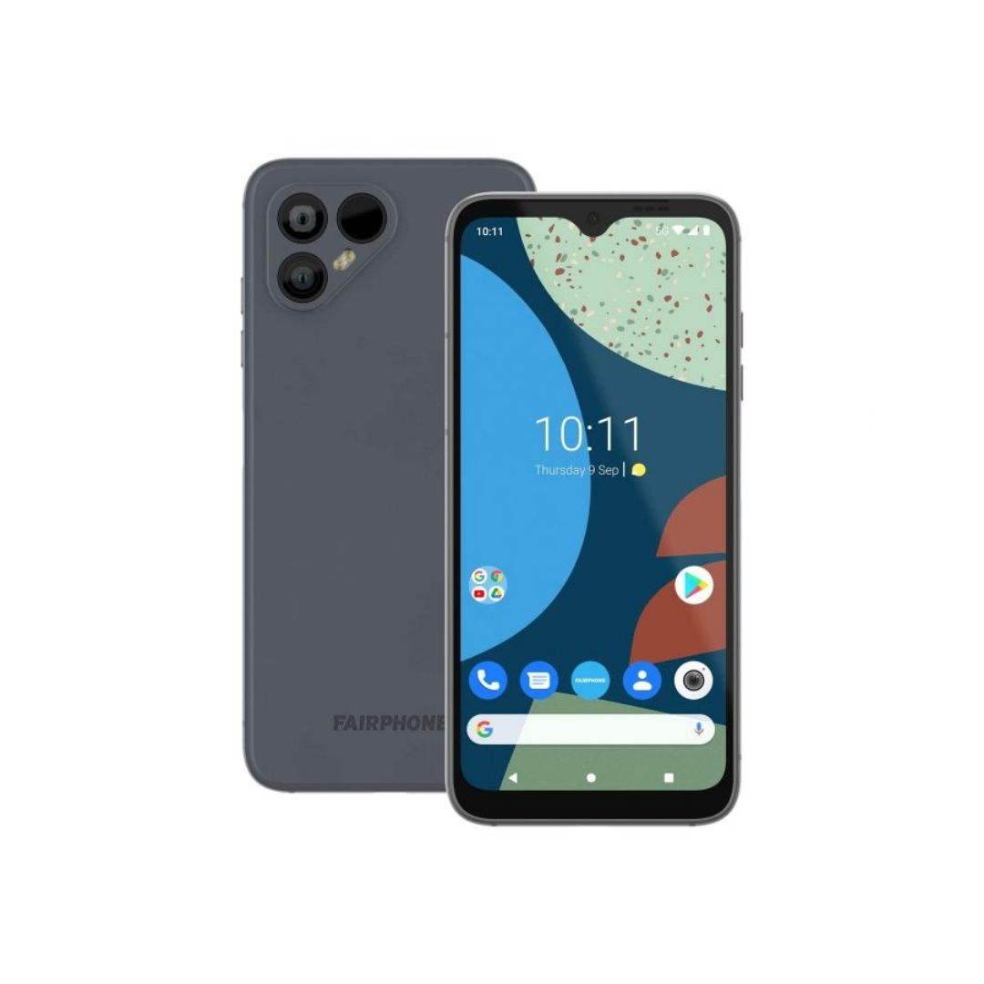 Fairphone 4 front and rear view